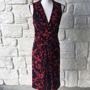Norma Kamali Red & Black Sleeveless Dress